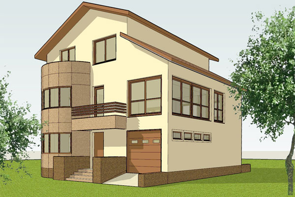 Proiectare arhitectura si rezistenta locuinte individuale for Case cu etaj si garaj